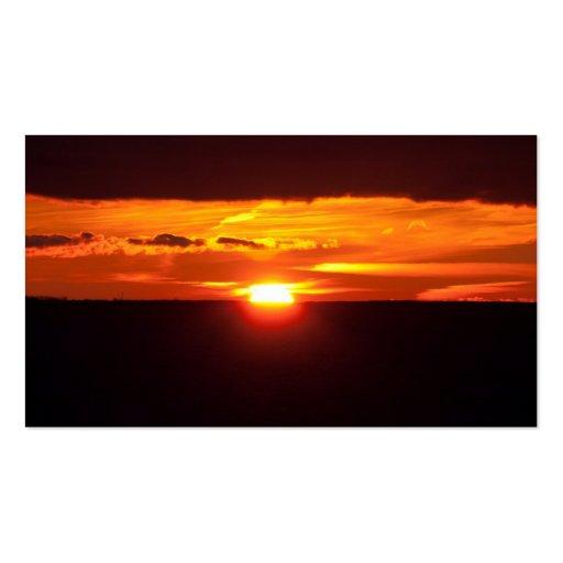 Intensiver Sonnenuntergang Visitenkartenvorlagen