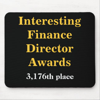 Interessanter Finanzdirektor Awards Joke Prize Mauspads