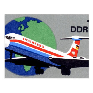 INTERFLUG - Nationale Fluglinie von DDR, Postkarte