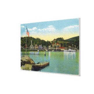 Interlaken-Park-Ansicht der Wehre Leinwanddruck