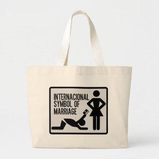 Internacional Symbol der Heirat Jumbo Stoffbeutel