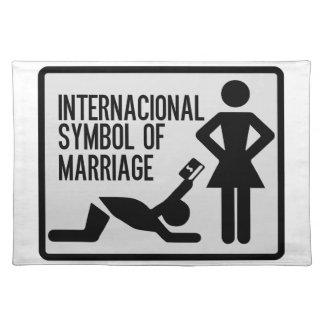 Internacional Symbol der Heirat Tischset