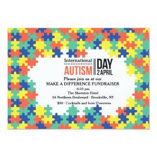 Internationale Autismus-Tageseinladung 12,7 X 17,8 Cm Einladungskarte