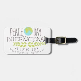 Internationale Friedenstagesaufkleber-Entwürfe in Gepäckanhänger