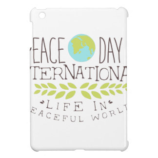 Internationale Friedenstagesaufkleber-Entwürfe in iPad Mini Hülle