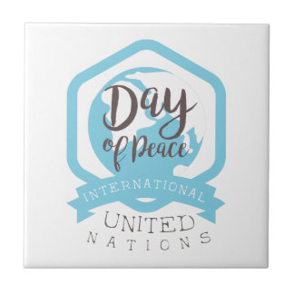 Internationale Friedenstagesaufkleber-Entwürfe Keramikfliese