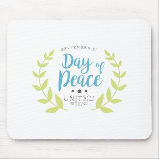 Internationale Friedenstagesaufkleber-Entwürfe Mousepad