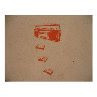 Internationale Graffiti-Postkarte Postkarte