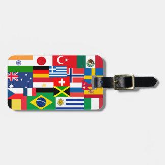 Internationale Weltflaggen Kofferanhänger