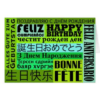 Internationaler alles- Gute zum Geburtstagentwurf Karte