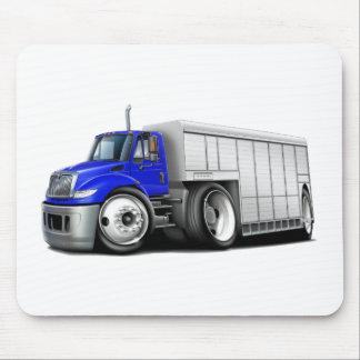 Internationaler Blau-Weißer Lieferwagen Mousepad