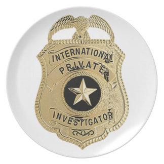Internationaler Detektiv Melaminteller