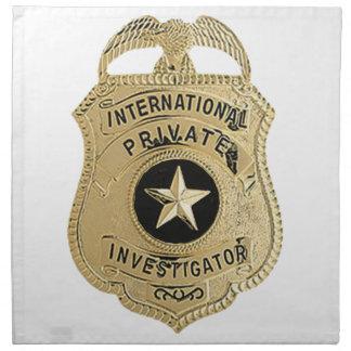 Internationaler Detektiv Stoffserviette