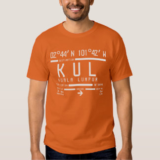 Internationaler Flughafen-Code Kuala Lumpur T-shirt