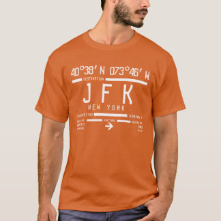 Internationaler Flughafen-Code New York JFK T-Shirt