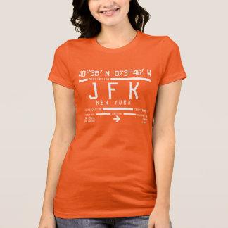 Internationaler Flughafen-Code New York JFK T-Shirt