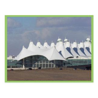 Internationaler Flughafen HauptterminalBuildin Postkarte