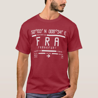 Internationaler FRA Flughafen-Code Frankfurts T-Shirt