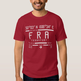 Internationaler FRA Flughafen-Code Frankfurts Tshirt