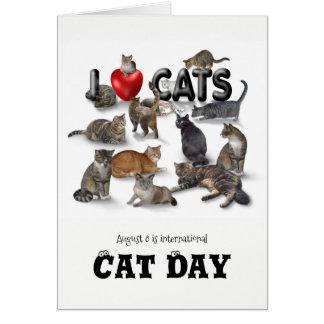 Internationaler Katzen-Tag Karte