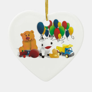 Internationaler Kindertag Keramik Herz-Ornament