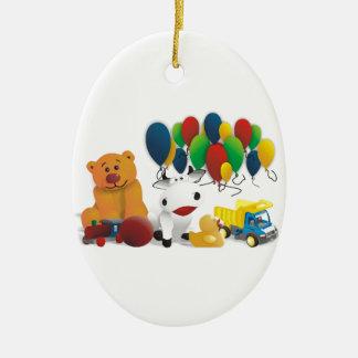 Internationaler Kindertag Ovales Keramik Ornament
