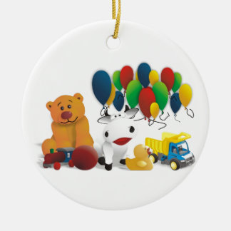 Internationaler Kindertag Rundes Keramik Ornament