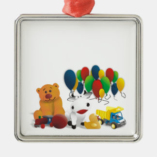 Internationaler Kindertag Silbernes Ornament