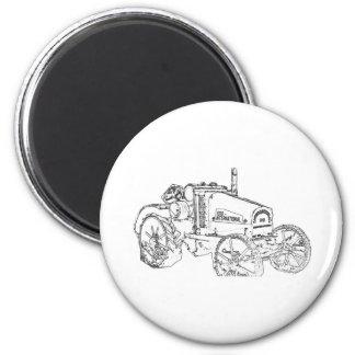 Internationaler Traktor Runder Magnet 5,7 Cm