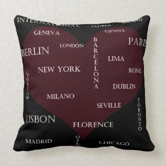 International Cities Pillow