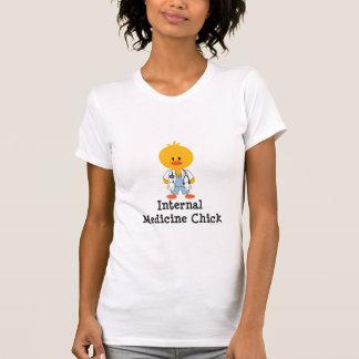 Interne Medizin-Küken-Schaufel-Hals-T - Shirt