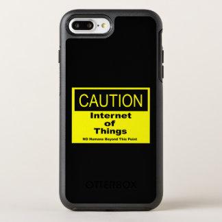 Internet des Sachen IoT Vorsicht-Warnzeichens OtterBox Symmetry iPhone 8 Plus/7 Plus Hülle