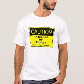 Internet des Sachen IoT Vorsicht-Warnzeichens T-Shirt
