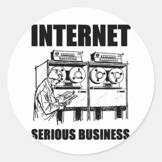 Internet-ernstes Geschäft Runder Aufkleber