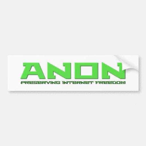 Internet-Freiheit Anon konservieren Autosticker