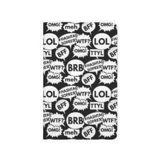 Internet-Versenden von SMS-Nachrichten-Muster Taschennotizbuch
