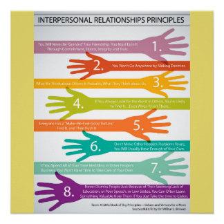 Interpersonelle Beziehungens-Prinzipien Poster