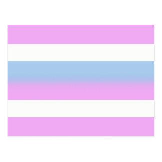 Intersex Flaggenpostkarten Postkarte