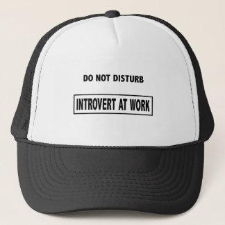 Introvert bei der Arbeit - stören Sie nicht Truckerkappe