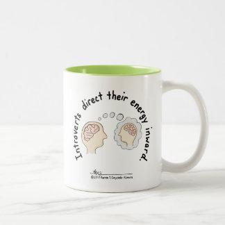 Introvert Grundlagen: Energie innere grüne Zweifarbige Tasse