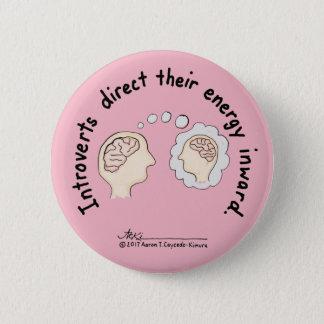 Introvert Grundlagen: Energie-innerer rosa Knopf Runder Button 5,1 Cm