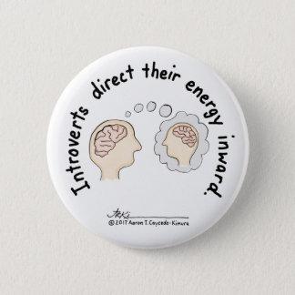 Introvert Grundlagen: Energie-innerer weißer Knopf Runder Button 5,1 Cm