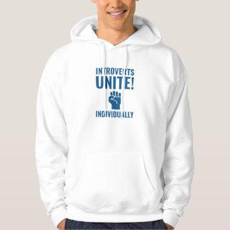 Introverts vereinigen hoodie