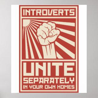 Introverts vereinigen separat in Ihren eigenen Poster