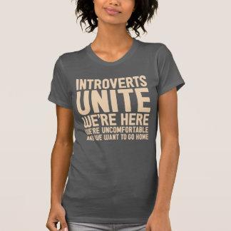 INTROVERTS VEREINIGEN uns sind hier wir sind T-Shirt