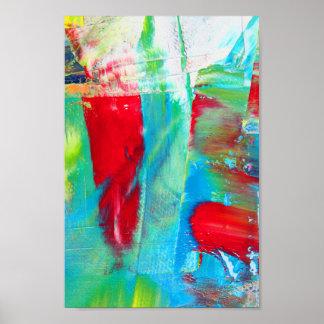 Intuition - abstrakte Malerei-Kunst Poster