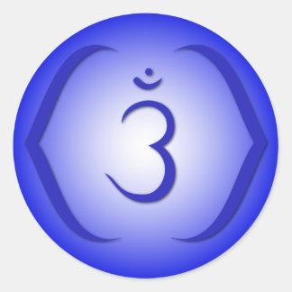 Intuition Chakra - Ajna Runde Aufkleber