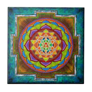 Intuition Sri Yantra - Artwork II Kleine Quadratische Fliese