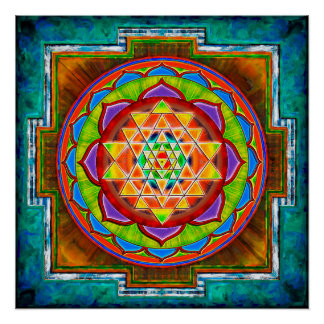 Intuition Sri Yantra - Artwork II Perfektes Poster