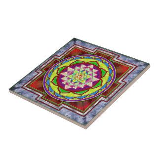Intuition Sri Yantra I Kleine Quadratische Fliese